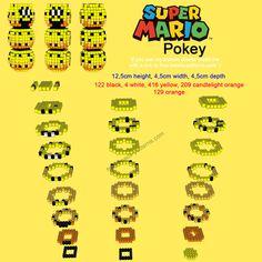 3D perler hama beads Super Mario Pokey