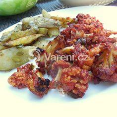 Zapečený květák s bramborem v sýrové omáčce recept - Vareni.cz Meat, Chicken, Food, Essen, Meals, Yemek, Eten, Cubs