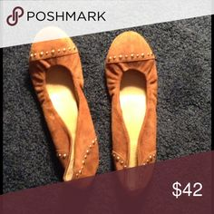 Studded Leather J. Crew Flats These flats have barely been worn, and are a lovely 6 1/2!! J. Crew Shoes Flats & Loafers