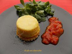 Œufs en dariole /Croquant, fondant, gourmand Fondant, Sauce Tomate, Cornbread, Breakfast, Ethnic Recipes, Food, Tomatoes, Greedy People, Kitchens
