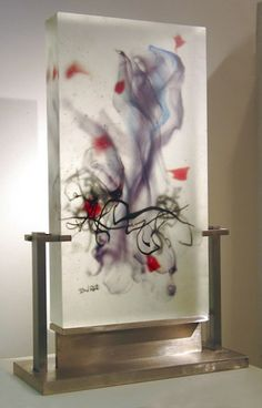 David Ruth - Gives me an idea for florals submerged or just sheltered in frosted glassware