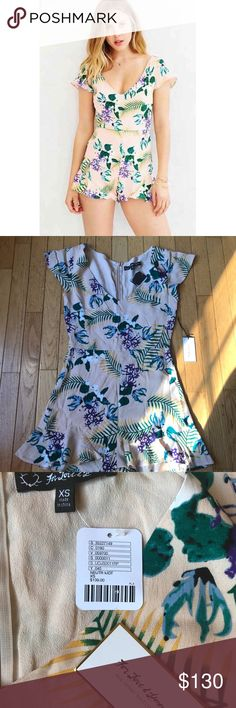 For Love and Lemons x Urban Outfitters Romper Brand new with tags!  For Love and Lemons and Urban Outfitters limited edition Bright Floral Romper; collaboration is easy and breezy in every possible way. Combining the ease of UO's clothes and the delicateness of For Love & Lemons' typical offerings, this collaboration was sold exclusively at Urban Outfitters. **Feel Free to make an offer!** For Love And Lemons Pants Jumpsuits & Rompers