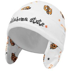 New Era Oklahoma State Cowboys Infant White Ski Knit Baby Beanie