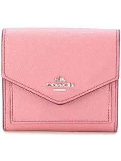 COACH metallic leather wallet. #coach #
