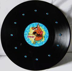 SCOOBY DOO Vinyl Record Wall Clock by PandorasCreations on Etsy, $25.00