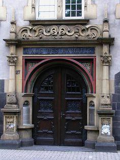 Door, Haus des handels, Trier, Germany by j.labrado, via Flickr