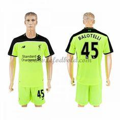 Billige Fodboldtrøjer Liverpool 2016-17 Balotelli 45 Kortærmet Tredjetrøje