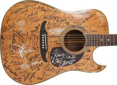 Fender Balboa Acoustic Electric Guitar, circa 1980s, Signed by 166 Musicians and Celebrities
