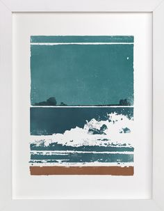 Screen Print Beach by Heather Francisco at minted.com