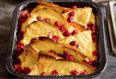An elegant version of bread and butter pudding that ups the wow factor by using brioche. This would make a lovely addition to a breakfast or brunch buffet table - as well as dessert any time.