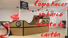 Como se hace un BARCO PIRATA de cartón Mickey Birthday, Pirate Birthday, Birthday Party Themes, Pirate Decor, Pirate Theme, Surfer Kids, Diy For Kids, Crafts For Kids, Festivals