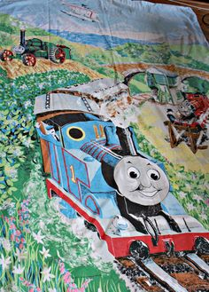 Thomas the Tank Engine 1980s Vintage Single Duvet Cover & Pillowcase. by AtticBazaar on Etsy