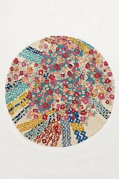 Amazon.com - Confetti Flora Multi Round Rug(5 RoundFT) - Handmade Rugs