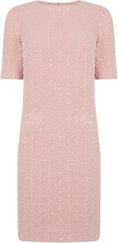 Womens dusty pink popcorn dress from Oasis - £45 at ClothingByColour.com Red Carpet Fashion, Pink Fashion, Runway Fashion, Dusty Pink, Dusty Rose, Pink Popcorn, Summer Colors, Oasis, Palette