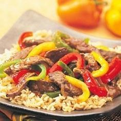 Swanson(R) Steakhouse Beef and Pepper Stir-Fry Recipe
