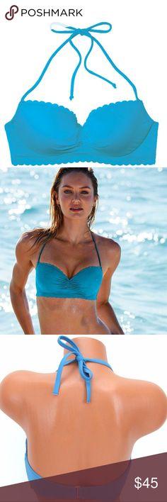 🆕😍 Victoria's Secret getaway halter swim top Victoria's Secret getaway halter bikini swim top. Color: 9JC equator blue . SM1972 Victoria's Secret Swim Bikinis