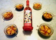 Peschenoci al vino Rosè Hot Sauce Bottles, Wine Recipes, Cheese, Rose, Blog, Dinner, Salta, Canteen
