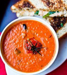 Vegan Roasted Tomato Soup - I'm not vegan but this sounds good!
