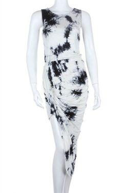 GREATEST 50% OFF SALE ENDS AT MIDNIGHT..Indie Eden Tie Dye Asymmetrical Dress - White