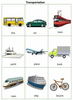 Esl Pages: Transportation English Activities For Kids, Learning English For Kids, English Worksheets For Kids, Toddler Learning Activities, English Language Learning, Teaching English, English Writing Skills, English Lessons, English Vocabulary
