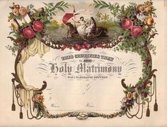WEDDING, MARRIAGE, HOLY MATRIMONY WAS CELEBRATED BETWEEN ___ & ___. DECOUPAGE PRINTABLE
