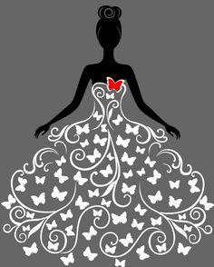 Ilustración creativa de la boda del vestido del diseño del vector 02