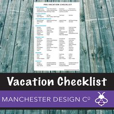Details Get your holiday essentials organised with this simple check list. With easy to use tick boxes you can make sure youve packed everything you need. This is an instant download, so you can buy now and be getting organised in minutes! Designed by us so you dont have the hassle. Nice and simple. This printable high-resolution PDF includes 1 page:  • Pre-Vacation Checklist: Organise your vacation the right way…