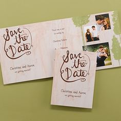 Rustic Band - Save the Date    |  40% OFF  |  http://mediaplus.carlsoncraft.com/Wedding/Save-the-Dates/3166-NKP26698-Rustic-Band--Save-the-Date.pro