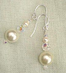 Perfect Pearl and Crystal Dangle Earrings