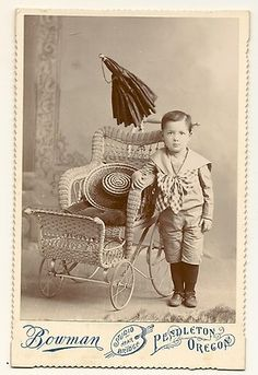 Antique 1880s Elaborate Wicker Baby Stroller with Umbrella Pendleton Oregon   eBay