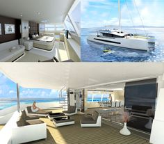 Ideas for room designs within the yacht, open spaces with fairly simple room designs look the best.