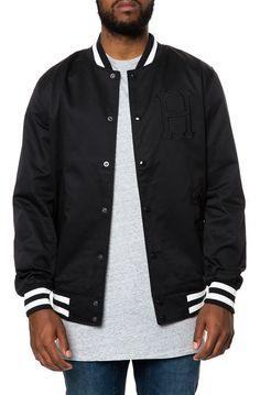 The Classic H Varsity Jacket in Black
