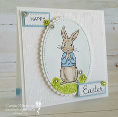 Stampin' Up! Fable Friends Easter card. Art with Heart Team Easter blog hop.