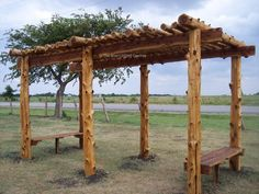 I want a pergola out back and I am really liking the log/rustic look