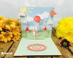 Handmade Pop-Up Card Tutorials. Make your cards come to life with our 3 handmade pop up cards. You can learn to make them with our handy tutorial & free printable template. Pop Up Card Templates, Templates Printable Free, Free Printables, Belle And Boo, Paper Art, Paper Crafts, Card Tutorials, Pop Up Cards, Card Making Inspiration