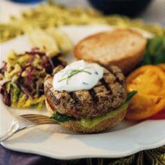 mmmm healthy turkey burger!