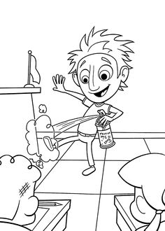 Little Flint from Сloudy coloring pages for kids, printable free