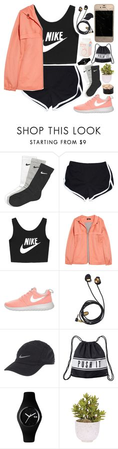 """""""Untitled #39"""" by cherubim ❤ liked on Polyvore featuring NIKE, A.P.C., Monki, Ice-Watch and Lux-Art Silks"""