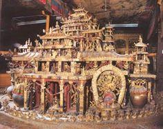 Traditional 3D Kalachakra mandala   in the Potala Palace, Lhasa, Tibet