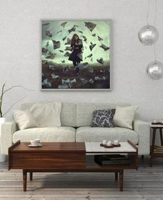 Fine Art Photography Print, Escape From Bad News, Fantasy Giclee Print, Limited Edition of 5 Photograph by Zuzana Uhlíková Fantasy Photography, Fine Art Photography, Wall Art Prints, Fine Art Prints, Oversized Wall Art, Square Art, Fantasy Artwork, Surreal Art, Dark Fantasy