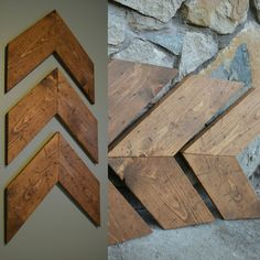 Pallet distressed chevron arrows. Great to fill that empty space on your wall!
