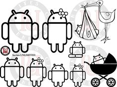 Android Family Decal. $3.00, via Etsy.