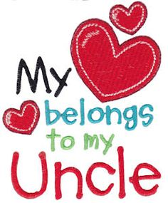 Dear Uncle embroidery designs at Bunnycup Embroidery at http://www.bunnycup.com/embroidery/design/DearUncle
