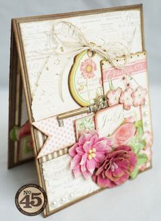 """""""Celebrate, Just Because"""" card featuring the beautiful Botanical Tea paper collection by Graphic 45. by Arlene Cuevas"""