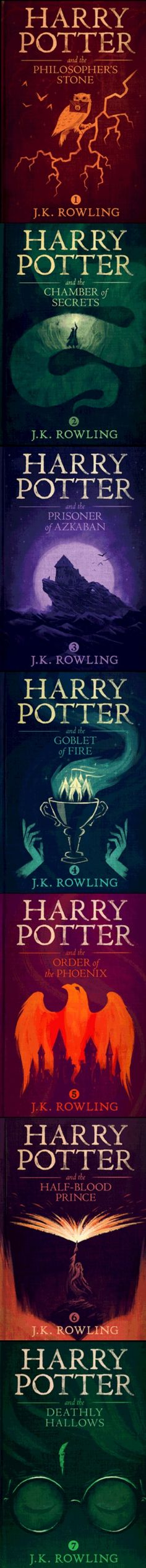 gorgeously reimagined Harry Potter covers by Olly Moss