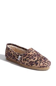 leopard toms, must have. exclusive for nordstrom and all sold out. of course.
