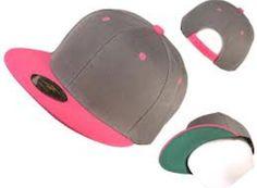 064db0601a64e Grey   Pink Flat Bill