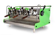 custom lime green synesso by espressoparts us. #coffee #coffeemahine