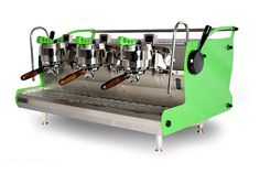 custom lime green synesso by espressoparts us. #coffee #coffeemahine