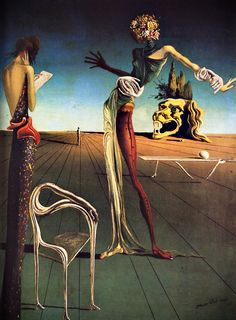 """""""Woman With a Head of Roses"""" Salvador Dali 1935"""